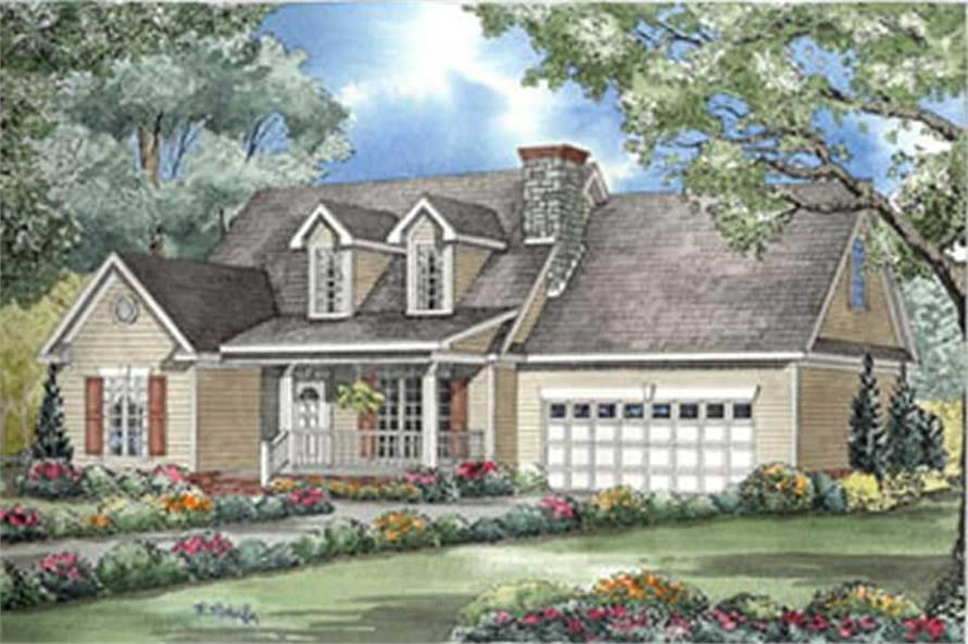 3-Bedroom, 1777 Sq Ft Country Home Plan - 153-1592 - Main Exterior