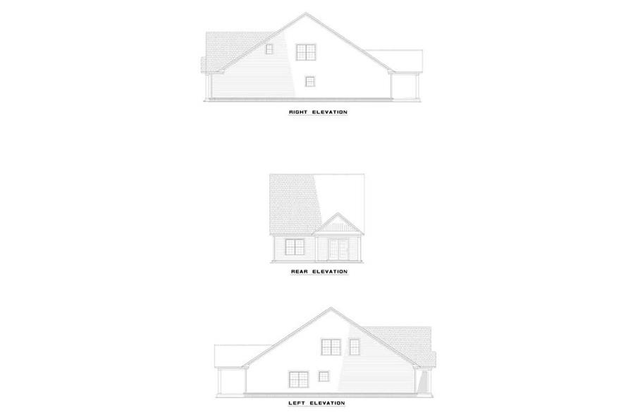 EXTERIOR ELEVATIONS of this 3-Bedroom,1890 Sq Ft Plan -1890