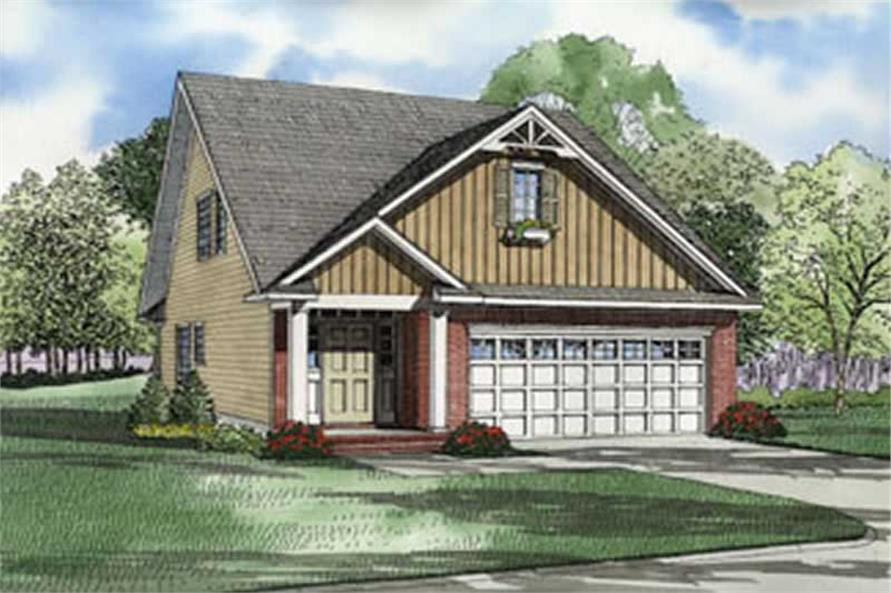 3-Bedroom, 1890 Sq Ft Country House Plan - 153-1593 - Front Exterior
