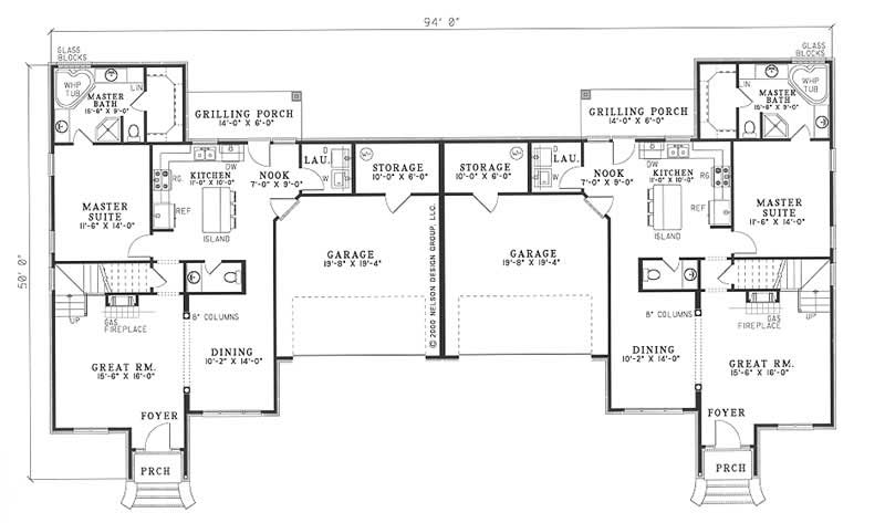 Multi unit house plan 153 1595 6 bedrm 1683 sq ft per for Multi unit home plans