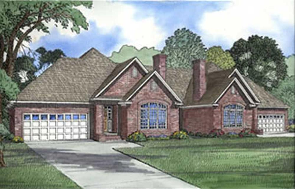 Front elevation of Multi-Unit home (ThePlanCollection: House Plan #153-1596)