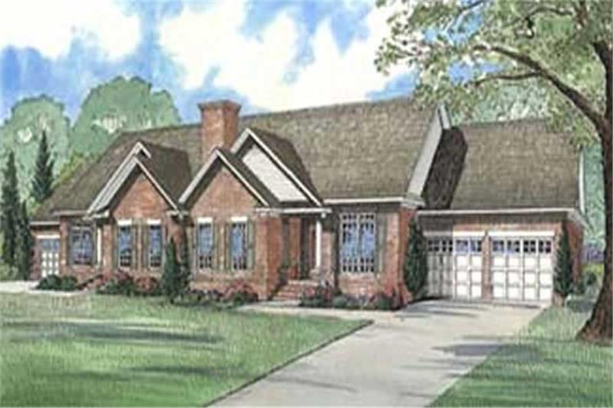 3-Bedroom, 1721 Sq Ft Multi-Unit Home Plan - 153-1597 - Main Exterior