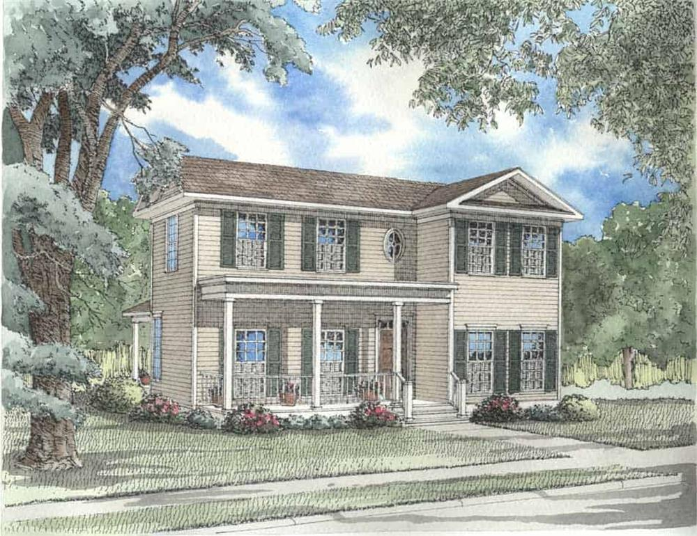 Front elevation of Country home (ThePlanCollection: House Plan #153-1598)