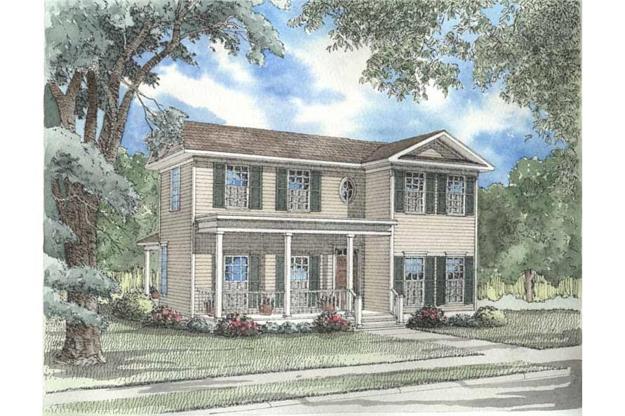 3-Bedroom, 1559 Sq Ft Country Home Plan - 153-1598 - Main Exterior