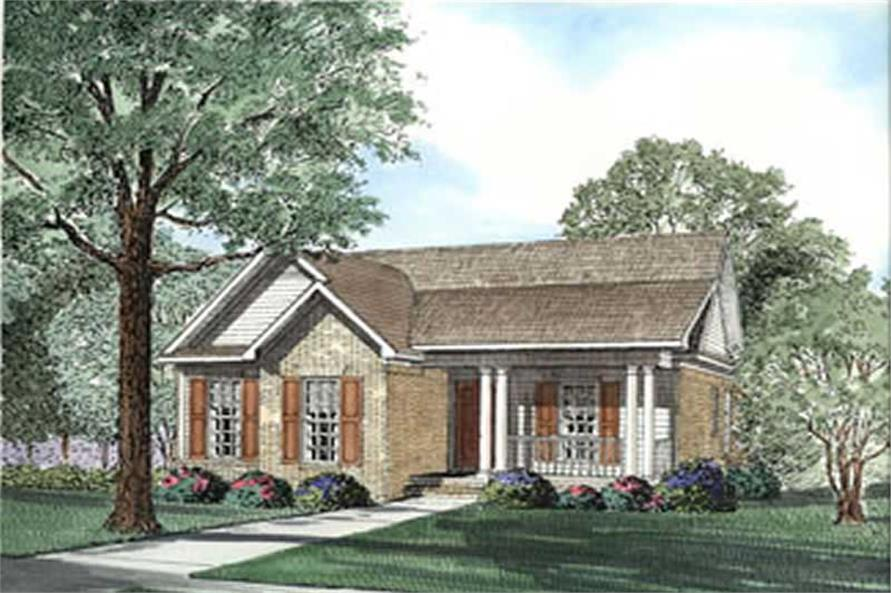 3-Bedroom, 1449 Sq Ft Country Home Plan - 153-1599 - Main Exterior