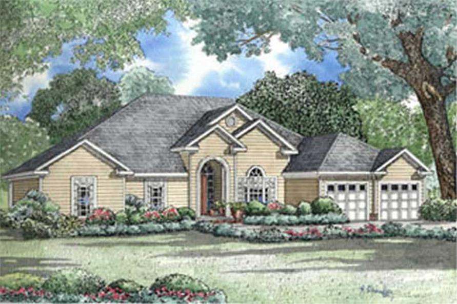 4-Bedroom, 2554 Sq Ft French Home Plan - 153-1600 - Main Exterior