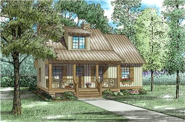 3-Bedroom, 1397 Sq Ft Country Home Plan - 153-1601 - Main Exterior