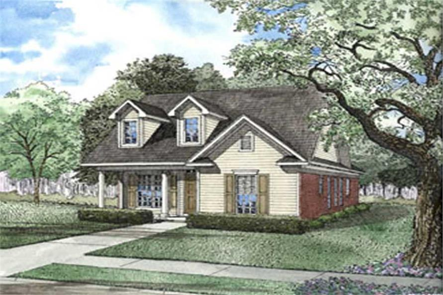 3-Bedroom, 1370 Sq Ft Contemporary House Plan - 153-1603 - Front Exterior
