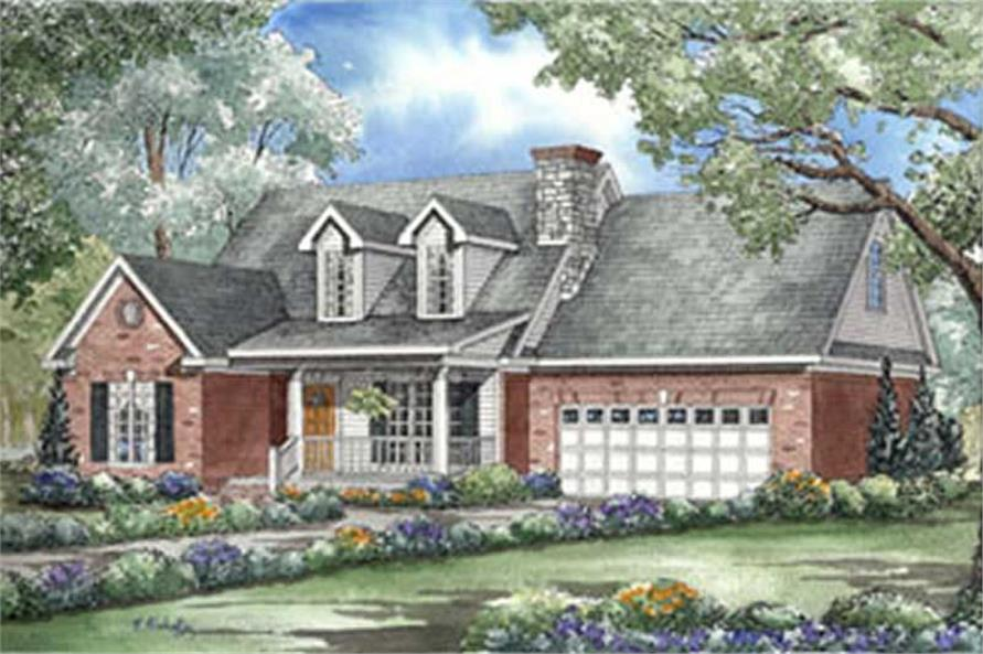 3-Bedroom, 1777 Sq Ft Country Home Plan - 153-1604 - Main Exterior