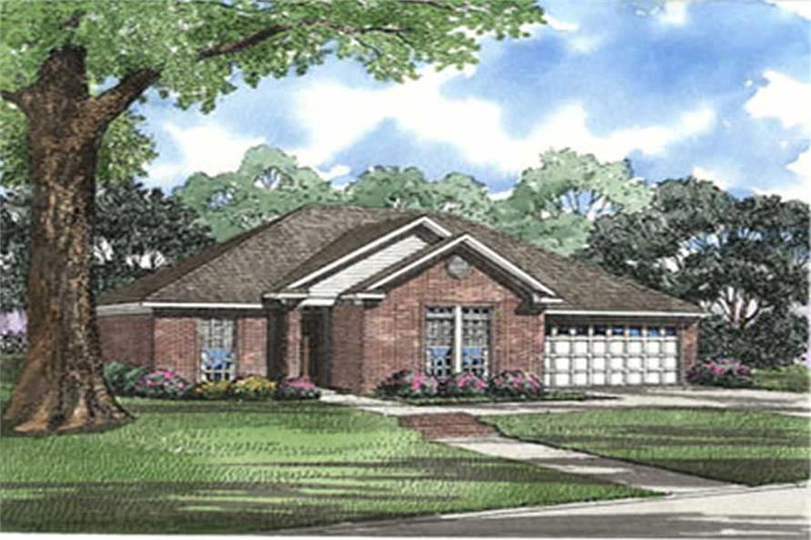 3-Bedroom, 1466 Sq Ft French Home Plan - 153-1605 - Main Exterior