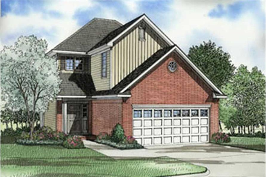 3-Bedroom, 1478 Sq Ft Country House Plan - 153-1606 - Front Exterior