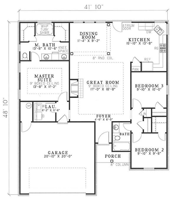 153-1608: Floor Plan Main Level