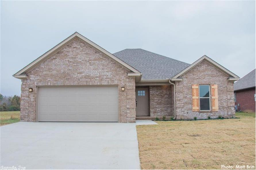 Home Exterior Photograph of this 3-Bedroom,1382 Sq Ft Plan -153-1608