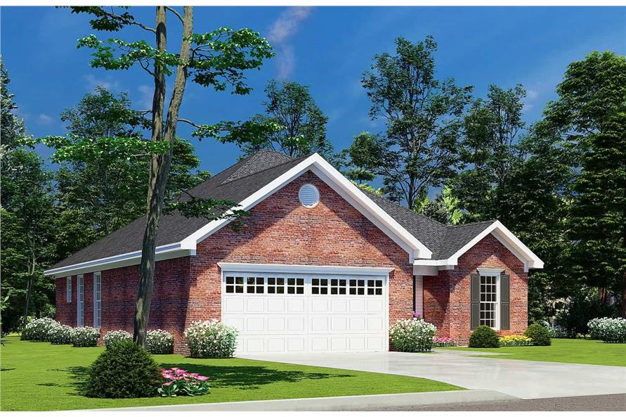 Left View of this 3-Bedroom,1382 Sq Ft Plan -153-1608