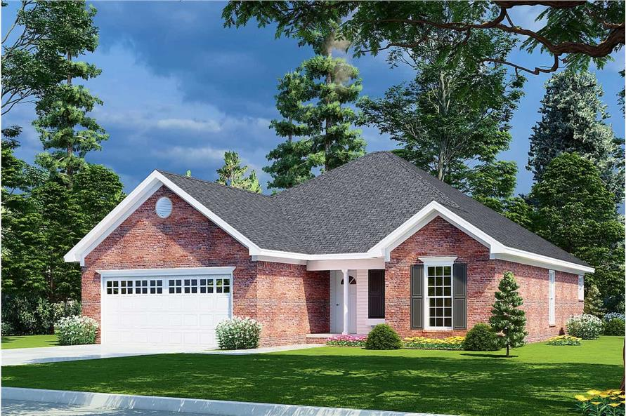 Right View of this 3-Bedroom,1382 Sq Ft Plan -153-1608