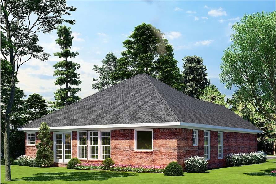 Rear View of this 3-Bedroom,1382 Sq Ft Plan -153-1608