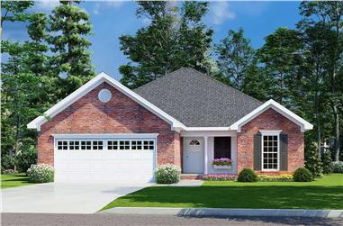 3-Bedroom, 1382 Sq Ft French Home - Plan #153-1608 - Main Exterior