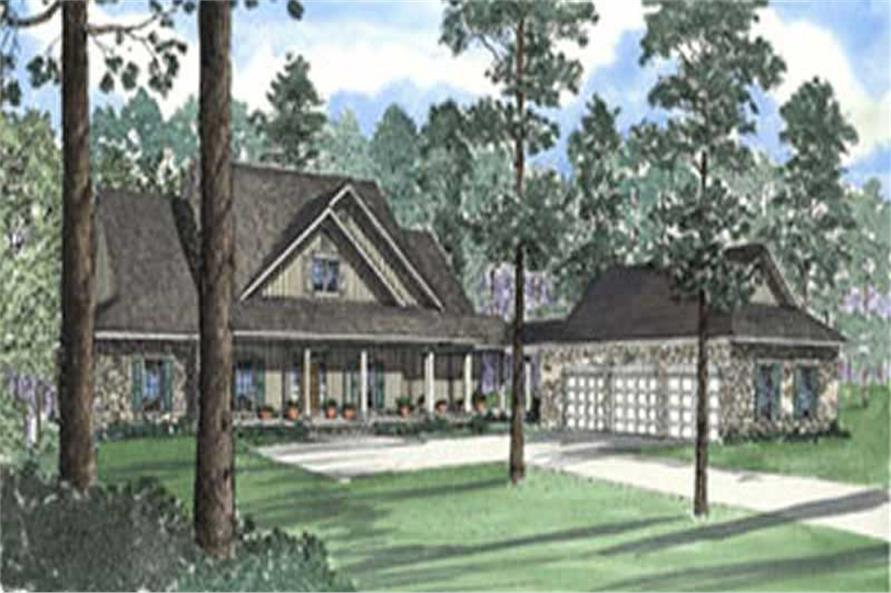5-Bedroom, 4131 Sq Ft Country Home Plan - 153-1609 - Main Exterior