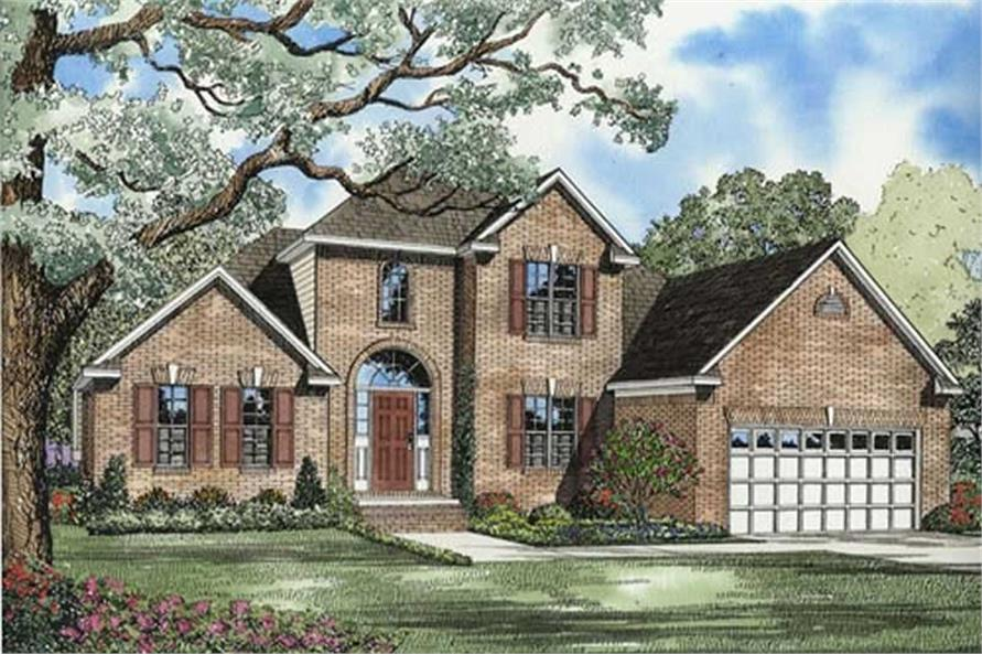 3-Bedroom, 1635 Sq Ft European House Plan - 153-1610 - Front Exterior