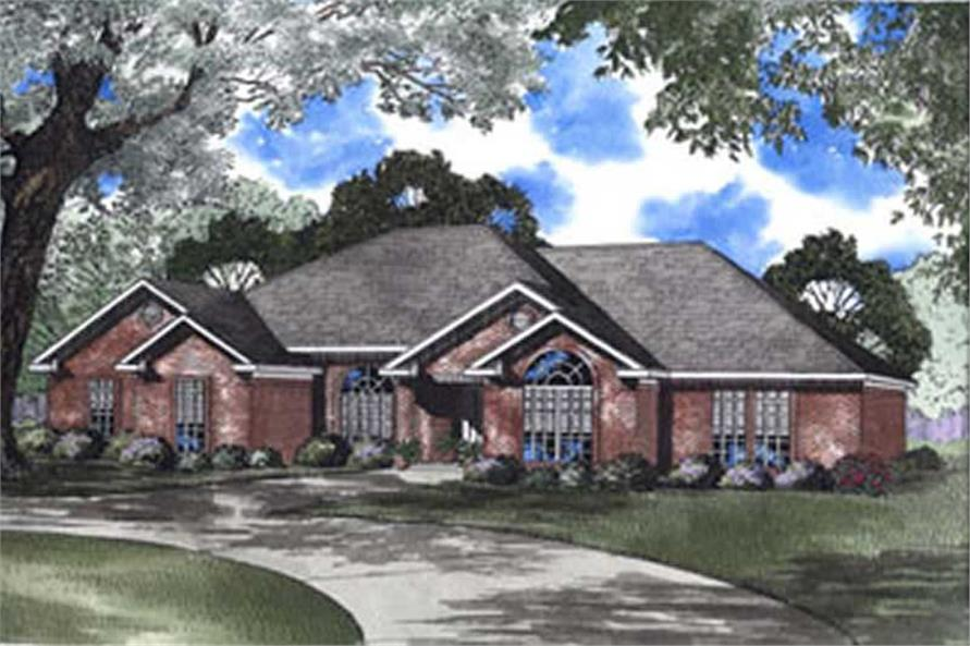 4-Bedroom, 2147 Sq Ft French Home Plan - 153-1611 - Main Exterior