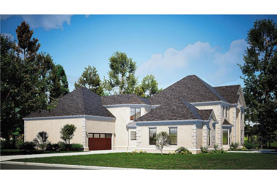 Left View of this 4-Bedroom,5009 Sq Ft Plan -153-1612