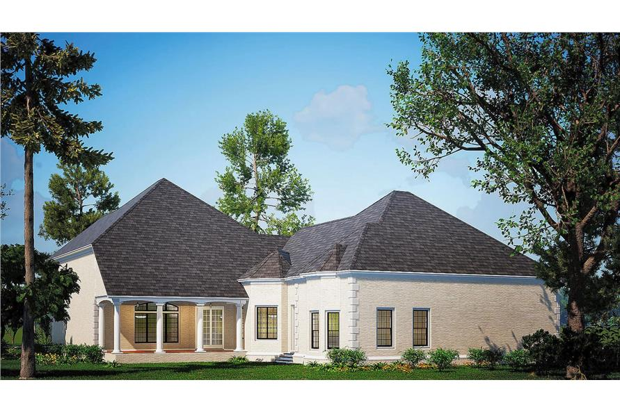 Rear View of this 4-Bedroom,5009 Sq Ft Plan -153-1612