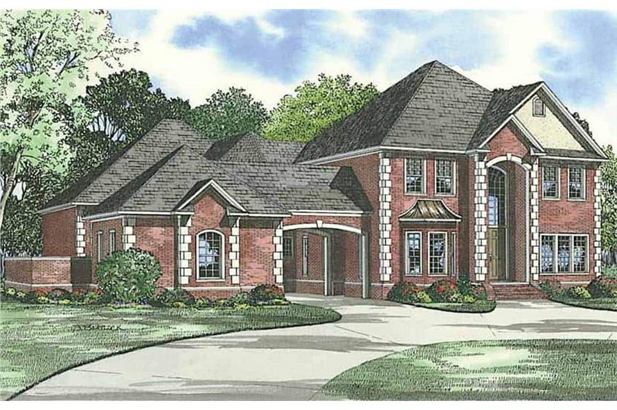 Front View of this 4-Bedroom,5009 Sq Ft Plan -153-1612
