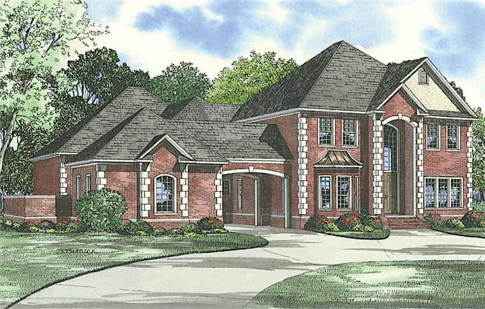 Luxury European house (ThePlanCollection: Plan #153-1612)