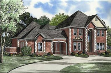 4-Bedroom, 5009 Sq Ft European House Plan - 153-1612 - Front Exterior