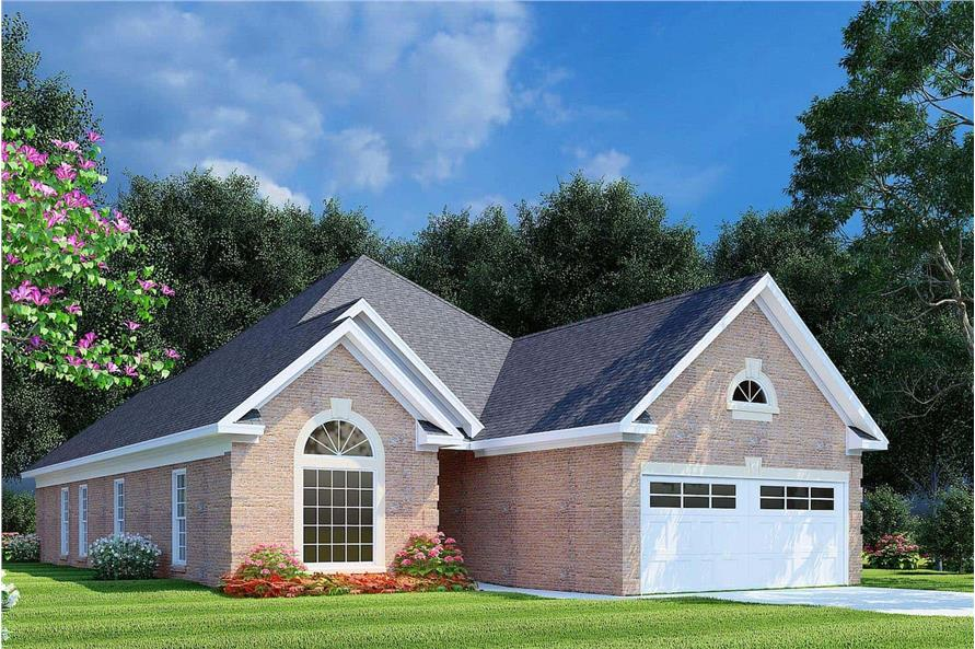 Left View of this 3-Bedroom,1608 Sq Ft Plan -153-1614