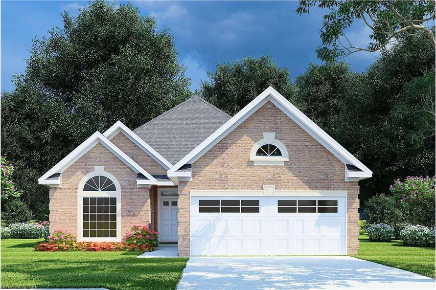 3-Bedroom, 1608 Sq Ft Ranch House - Plan #153-1614 - Front Exterior