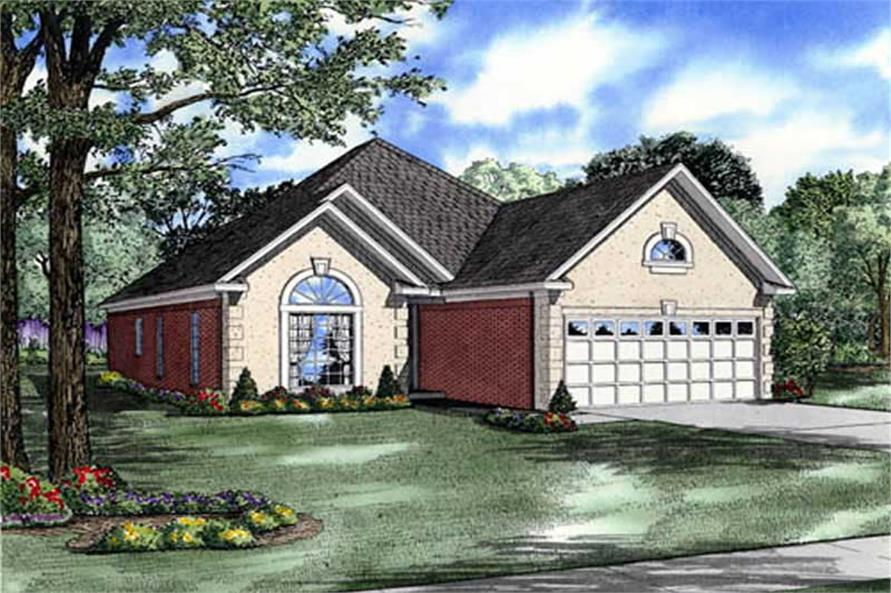 Front elevation of Traditional home (ThePlanCollection: House Plan #153-1614)