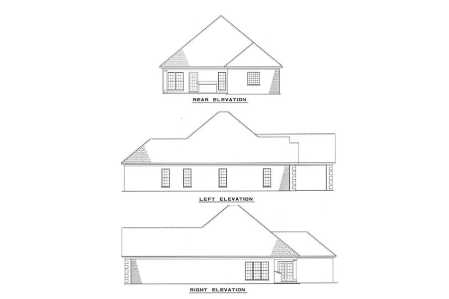 Other Elevations of this 3-Bedroom,1608 Sq Ft Plan -1608