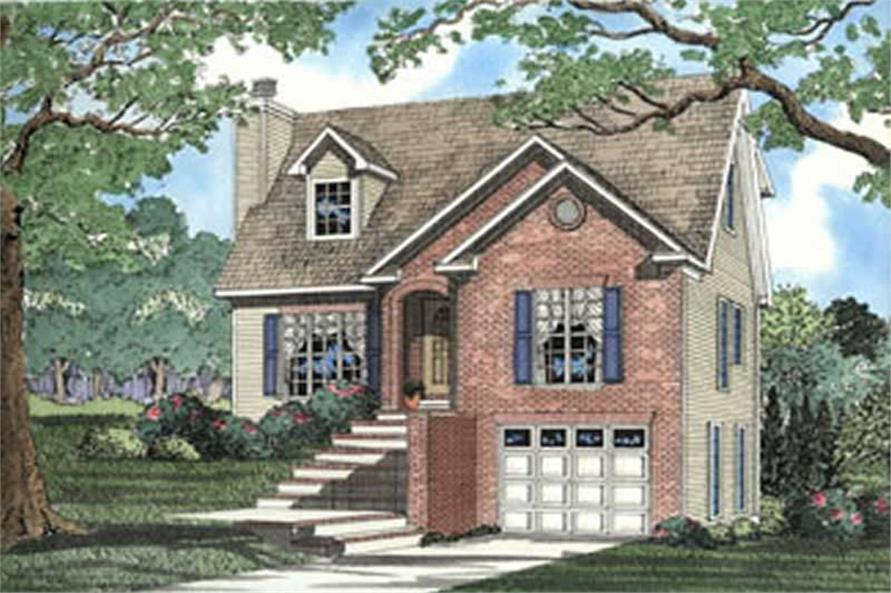 3-Bedroom, 1645 Sq Ft Contemporary Home Plan - 153-1615 - Main Exterior