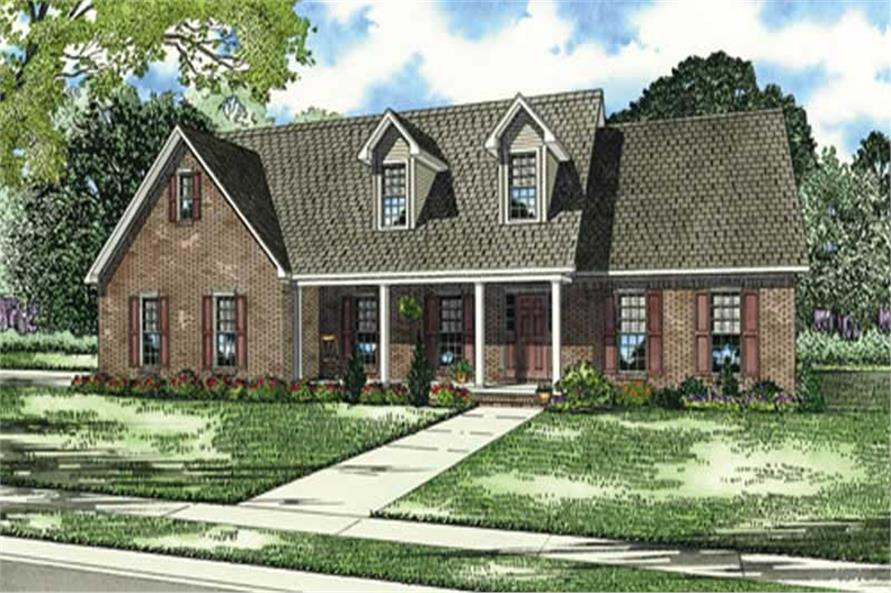 3-Bedroom, 2320 Sq Ft Southern House Plan - 153-1617 - Front Exterior
