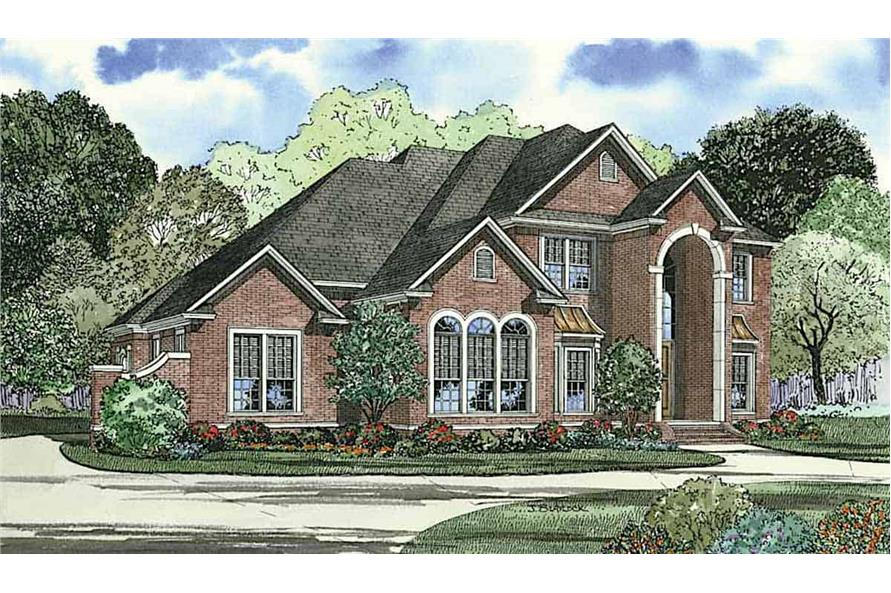 Left View of this 5-Bedroom,3692 Sq Ft Plan -153-1618