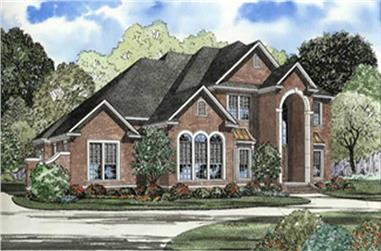 5-Bedroom, 3692 Sq Ft European House Plan - 153-1618 - Front Exterior