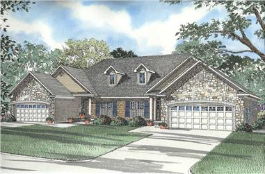 6-Bedroom, 1487 Sq Ft Country Home Plan - 153-1623 - Main Exterior