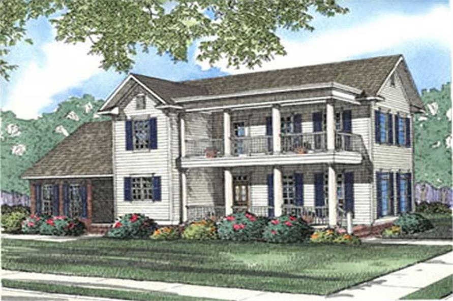 4-Bedroom, 1701 Sq Ft Colonial Home Plan - 153-1625 - Main Exterior