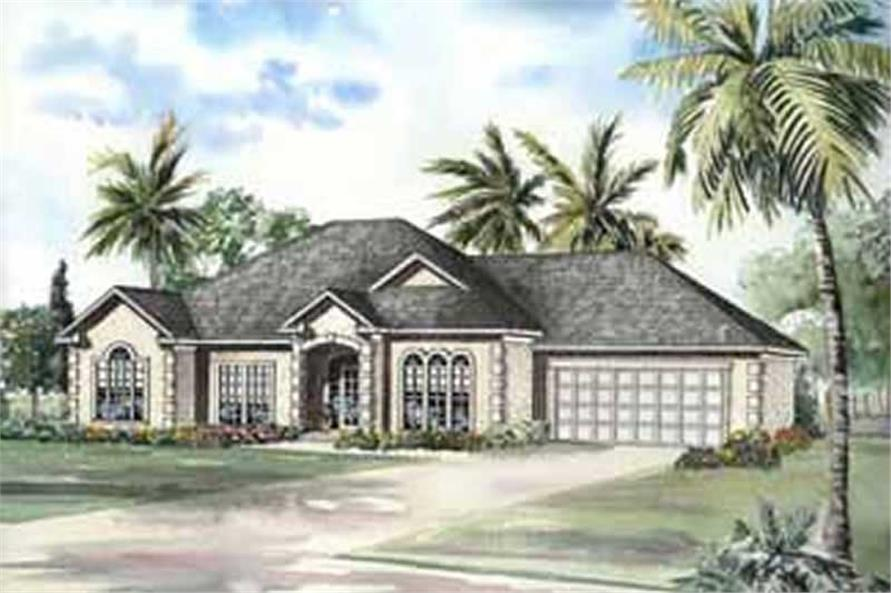 3-Bedroom, 2121 Sq Ft Coastal Home Plan - 153-1626 - Main Exterior