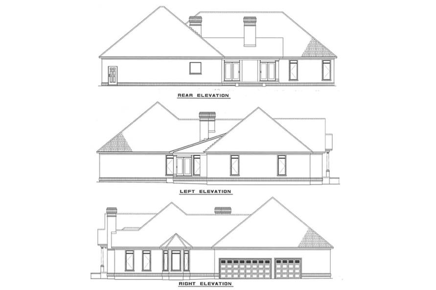 Other Elevations of this 4-Bedroom,3183 Sq Ft Plan -3183
