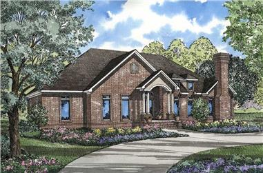 4-Bedroom, 3183 Sq Ft Country Home Plan - 153-1627 - Main Exterior