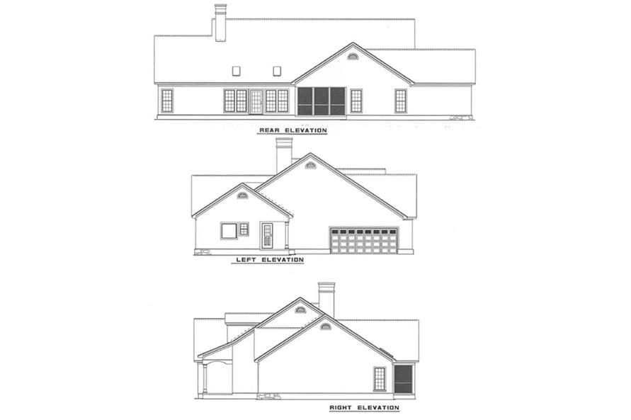 Other Elevations of this 4-Bedroom,2742 Sq Ft Plan -2742