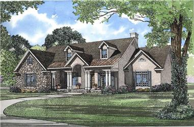 4-Bedroom, 2742 Sq Ft Country Home Plan - 153-1628 - Main Exterior