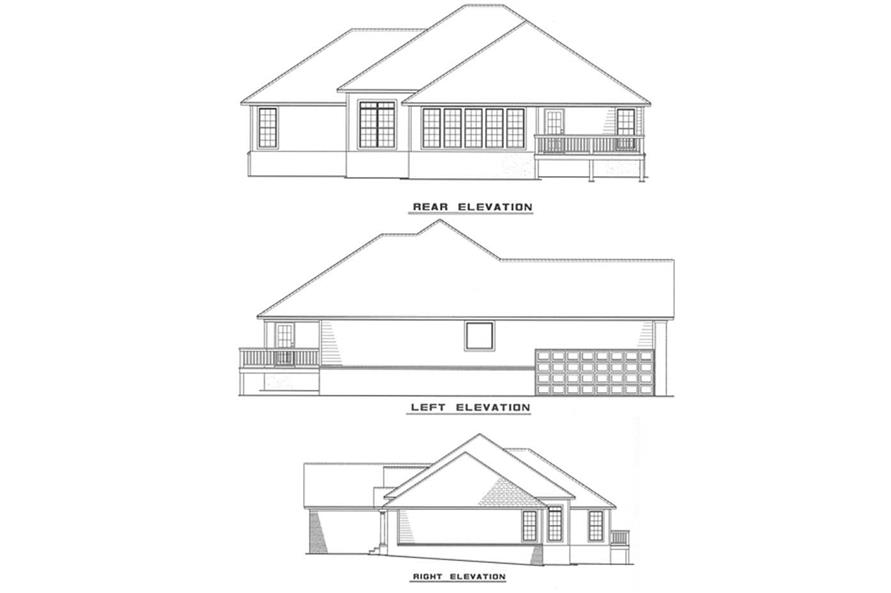 Other Elevations of this 3-Bedroom,2132 Sq Ft Plan -2132