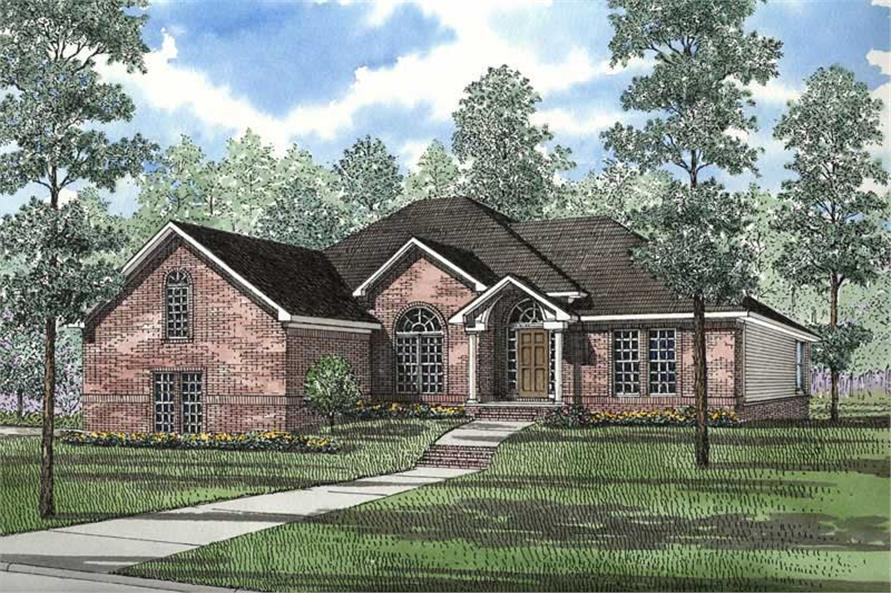 3-Bedroom, 2132 Sq Ft Ranch Home Plan - 153-1629 - Main Exterior