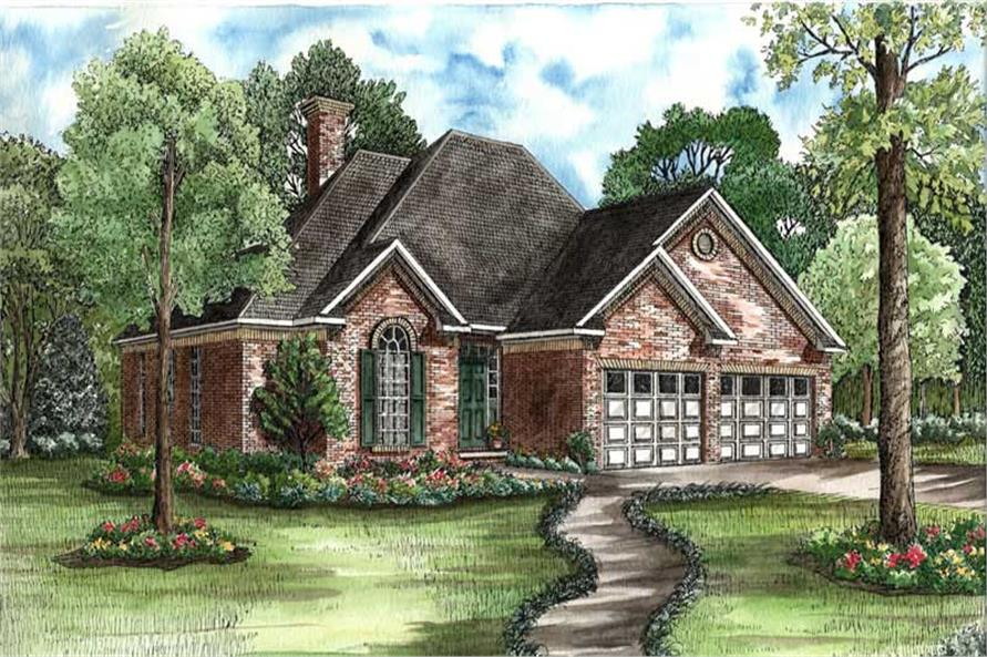 3-Bedroom, 1601 Sq Ft Country House Plan - 153-1631 - Front Exterior