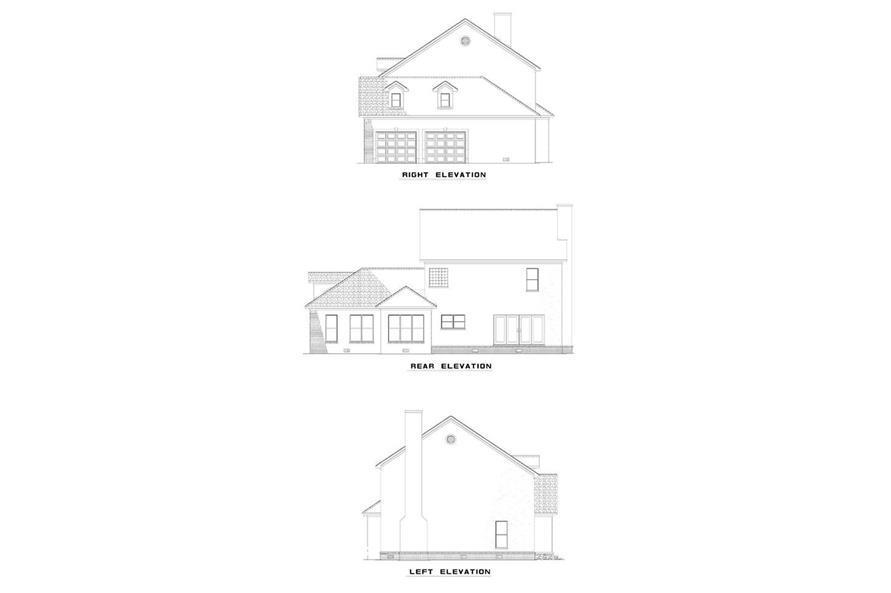 EXTERIOR ELEVATIONS of this 3-Bedroom,2288 Sq Ft Plan -2288