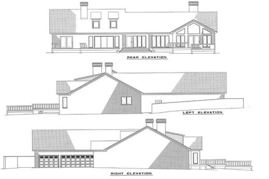 EXTEIROR ELEVATIONS of this 3-Bedroom,2611 Sq Ft Plan -2611