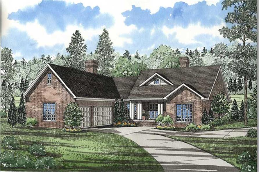 3-Bedroom, 2611 Sq Ft Ranch Home Plan - 153-1633 - Main Exterior